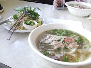 Wonderful Pho with Garnishes